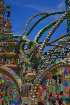 Sam Rodia (1879-1965) Watts towers, Watts, California
