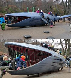 The whale... now that would be a cool outdoor play structure!