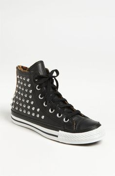 A black hightop with some extra bling. Converse Chuck Taylor® All Star® Studded High Top | Pretty Little Liars