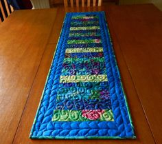 Quilted Table Runner Kaffe Fassett and Philip Jacobs by LyndiArt, $60.00