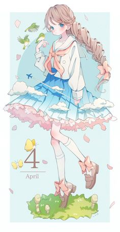 Anime Girl Drawings, Kawaii Drawings, Cute Drawings, Sad Anime Girl, Kawaii Anime Girl, Anime Art Girl, Kawaii Chibi, Kawaii Art, Manga Anime