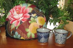 Quilted Teapot Cozy Japanese #Peonies and Fans by JapanesqueAccents