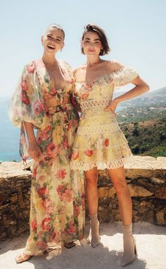 Georgia Fowler, New Zealand model, and Bambi Northwood-Blyth, Australian model, for ZIMMERMANN July 2018 in Saint-Tropez Sparkly Outfits, Summer Outfits, Summer Dresses, Boho Fashion, Fashion Dresses, Fashion Trends, Dresses For Teens, Casual Dresses, Boho Ootd