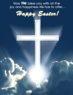 Happy Easter Sayings Quotes pictures with cross