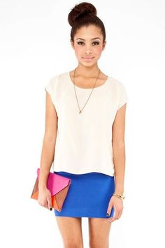 tobi roundabout top in cream
