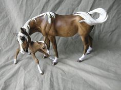 "Breyer custom ""Susecion and Le Fire' Dappled Chocolate Palomino"