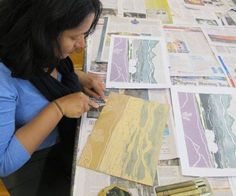 Here's a little look inside the Printmaking Class run by Robert Ives at WWAS on Thursdays. You will find new forms of expression through linocuts, woodcuts, etchings and monoprints. Come and explore them all over a nine weeks course with Robert. Term 3 Courses run from 18 July to 17 September and we are taking bookings now