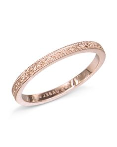45931baca061f 14 karat rose gold band with an engraved design and a grain edge. 1.9mm