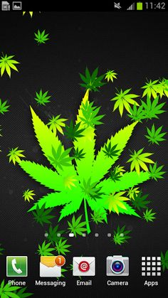 """Weed Live Wallpaper"" will get you high with ten background images of ganja we have selected for your enjoyment only! Sit back and relax while green leaves slowly fall down your screen! Feel like a real rastaman with these exceptional HD wallpapers! If you are in love with Mary Jane, you will never want to change these weed pictures! Check out why this green background is the dopest of all you can find on the market! Just one look at this marijuana wallpaper will make you forget about…"