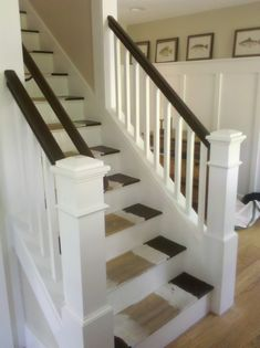 From dark scary enclosed staircase, to open and pretty!