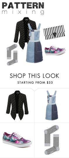 """""""Untitled #14"""" by sarah-mauldin ❤ liked on Polyvore featuring LE3NO, SJYP, Vans and patternmixing"""