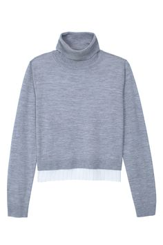 Two-Tone #Tibi #grey #sweater #Fall