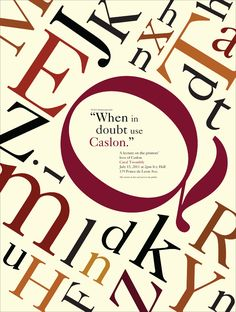 caslon font poster - Google Search