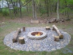 Fire pit & log     seatingm