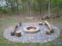 Fire pit & log     seatingm