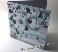 The Night Before Christmas  - a handmade card by Cobwebs.  Made using Card-io stamps