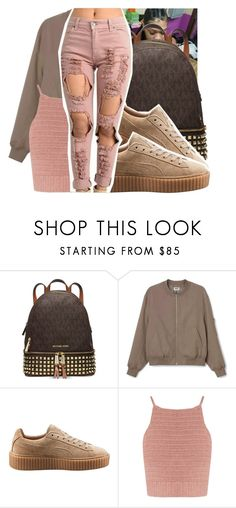 """"" by royaltyvoka ❤ liked on Polyvore featuring Michael Kors, Puma and SHE MADE ME"