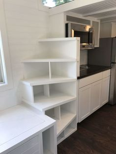 Driftless 20 Tiny House RV For Sale in Wisconsin Tiny House Design Driftless House Sale Tiny Wisconsin Plan Tiny House, Tiny House Stairs, Small Tiny House, Loft Stairs, Tiny Houses For Sale, Tiny House Design, Tiny House On Wheels, Little Houses, Tiny House Storage