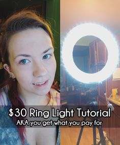 misslaneyluck: I made my own SUPER CRAPPY dimmable/ color changing ring light for under $30. The goal of this project was to keep it as cheap as possible while still being functional for the single day we need it. I found a tutorial that used an...