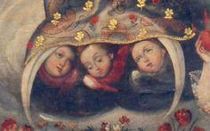 Cuzco school Spanish Colonial, Mexican Folk Art, Sacred Art, Angeles, Painting, School, Paintings, Xmas, Angels