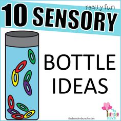 The Bender Bunch: Really Fun Sensory Bottles Sensory Tubs, Sensory Bottles, Hands On Activities, Educational Activities, Coping Skills, Social Skills, Autism Parenting, Parenting Tips, Discovery Bottles