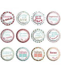Colección de chapas para bodas Retro - 12 chapas parte 1 Decorative Plates, Home Decor, Ideas, Frases, Sheet Metal, Invitations, Personalized T Shirts, Blouse, Pictures