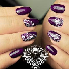 64 Trendy Purple Nail Art Designs and Ideas You Have to Try - Fingernägel - Nageldesign Nail Art Violet, Purple Nail Art, Purple Nail Designs, Nail Art Designs, Nails Design, Purple Manicure, Fancy Nails, Diy Nails, Nail Nail