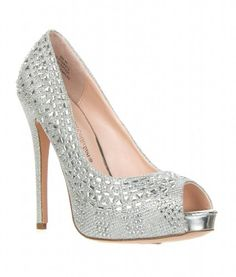 Wedding Bridesmaid Formal Dress High Heel Rhinestone Glitter Pump ETERNITY-50, Eternity-50 silver 5.5
