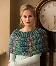 Cowl Shoulder Cozy ~ (# LW4714) crochet for skill level easy, designed by Salena Baca | free pattern from Red Heart Yarns