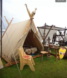 Viking tent (although I am more interested in the day shade on the side)