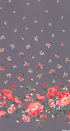 Cabbage Rose Border' from the 'Bed of Roses' collection by Michael Miller Fabrics.