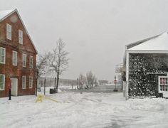 Juno 1/27/15 Storm hits Nantucket hard. No power, the ocean's spilling up Broad street.