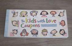 To Kids with Love Hallmark Gift Book 50 Creative Coupons Rewards Surprise Chores #Hallmark