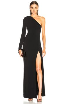 Image 1 of Redemption One Shoulder Long Dress in Black Source by mlafinest dresses ideas One Sleeve Dress, Prom Dresses With Sleeves, Gala Dresses, Evening Dresses, Casual Dresses, Short Dresses, Fashion Dresses, Long Sleeve, Pretty Dresses