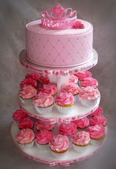 Madison's Princess Themed First Birthday Cupcake Tree By CakeInfatuation on CakeCentral.com