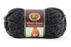 Amazon.com: Wool-Ease Thick & Quick Yarn - Charcoal