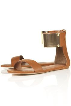 FORTUNE METAL CUFF SANDALS / Top Shop  Visit:  http://fashionartist.org/  Like share and repin :)