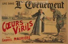 Summary: A nurse making an appeal to a wounded French soldier. In the background is Rheims Cathedral burning.