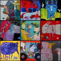 The art of FIBRITE / paper mache, painting in relief (sales to the association Julien: www.assocjulien.canalblog.com)