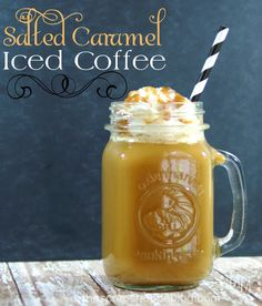salted caramel iced coffee. Yes please!!!!