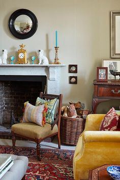 I am crushing on this quintessentially English manor farm in Norfolk, U.K., home to interior de...