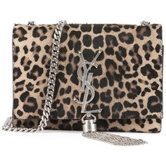 Saint Laurent Monogram Small Leopard-Print Calf Hair Crossbody Bag ($2,290) ❤ liked on Polyvore featuring bags, handbags, shoulder bags, black crossbody handbags, monogrammed crossbody purse, leopard print purse, black purse and black crossbody purse