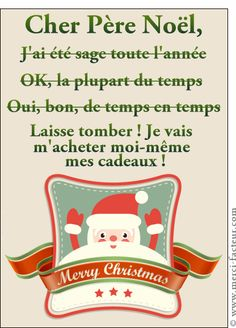 Dear Santa Card I was wise to send by La Poste, on Merci-Fact . Adult Christmas Party, Christmas Party Themes, Funny Christmas Cards, Christmas Time, Christmas Decor, Christmas Wonderland, Dear Santa, Merry Christmas, Christmas Wishes