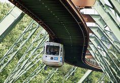Wuppertal Schwebebahn or Wuppertal Floating Tram. Suspension Railway in Wuppertal, Germany. (Photo Credits: Neil Pulling)