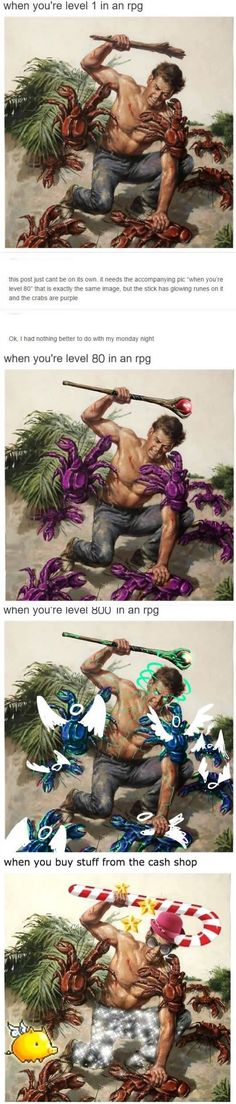 Every RPG in a nutshell . Browse new photos about Every RPG in a nutshell . Most Awesome Funny Photos Everyday! Because it's fun! Video Game Memes, Video Games Funny, Funny Games, Gamer Humor, Gaming Memes, All Meme, Stupid Funny Memes, Funny Stuff, Skyrim