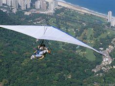 Hang-Glider after Taking off from Pedra Bonita, Rio De Janeiro, Brazil, South America  by Marco Simoni