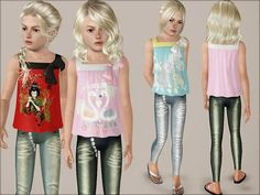 Fashionable girl SET jeans and top by Weeky - Sims 3 Downloads CC Caboodle