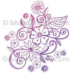 Hand-Drawn Sketchy Notebook Doodle Flower Vector Illustration by blue67stock.com by blue67design, via Flickr