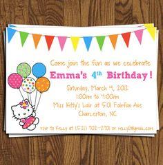 Hello Kitty Birthday Invitation Collection