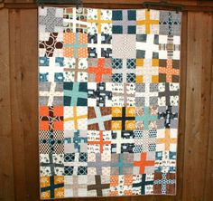 Happy Camper Wonky Cross Quilt | by QuiltsByEmily
